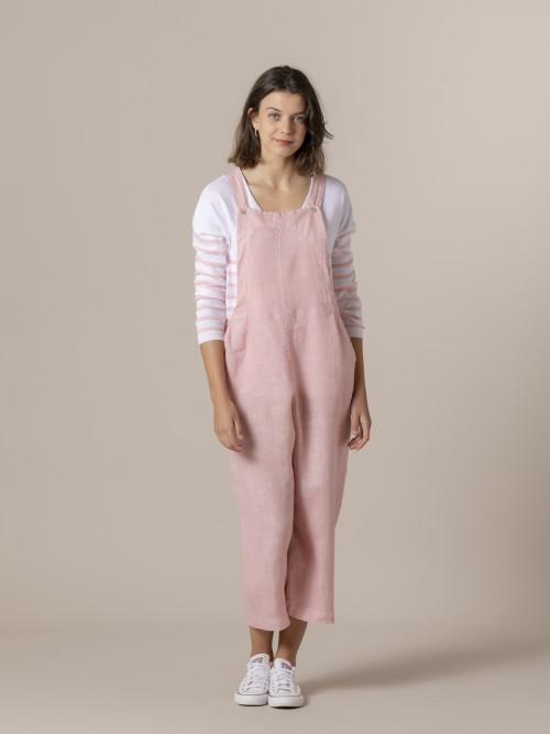 Woman Woman linen jumpsuit Pink