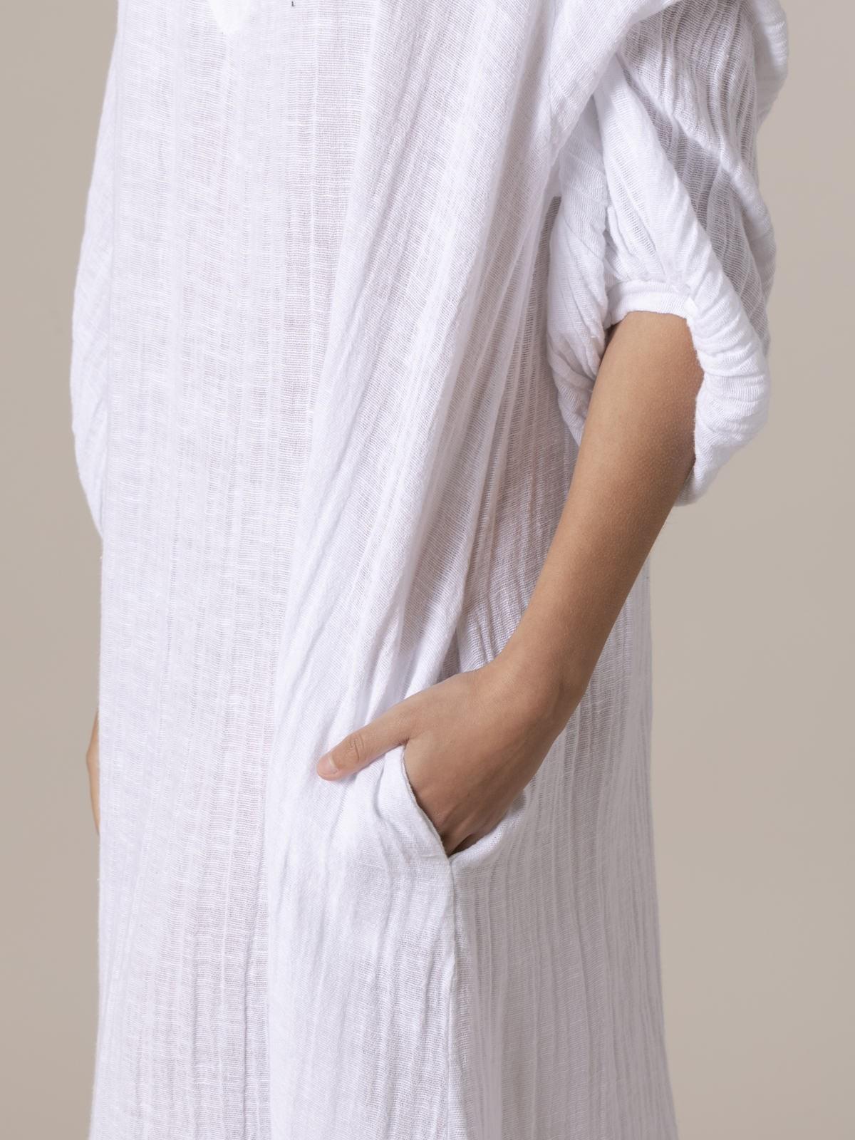 Woman Comfort oversize dress White