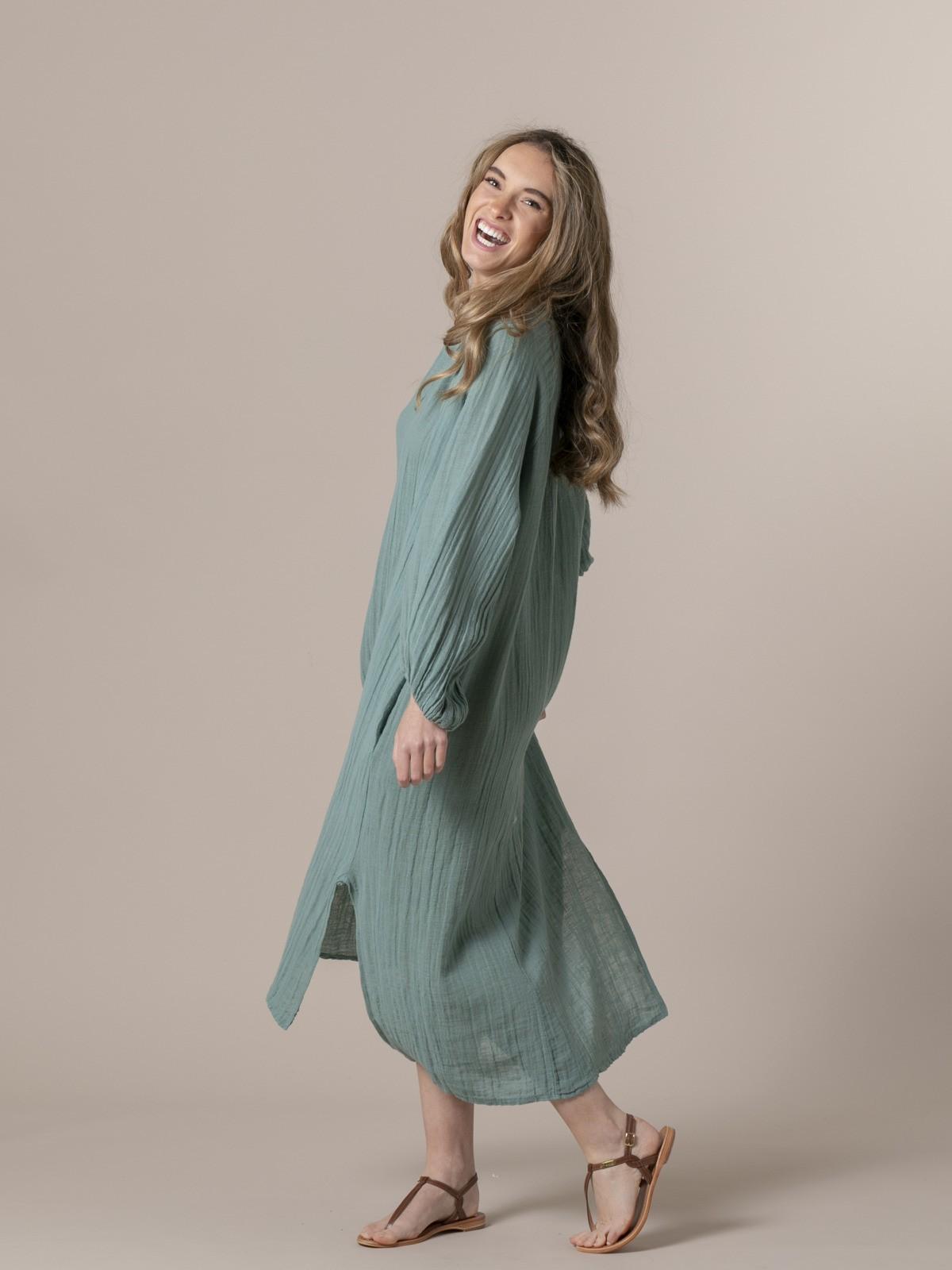 Vestido oversize confort Verde