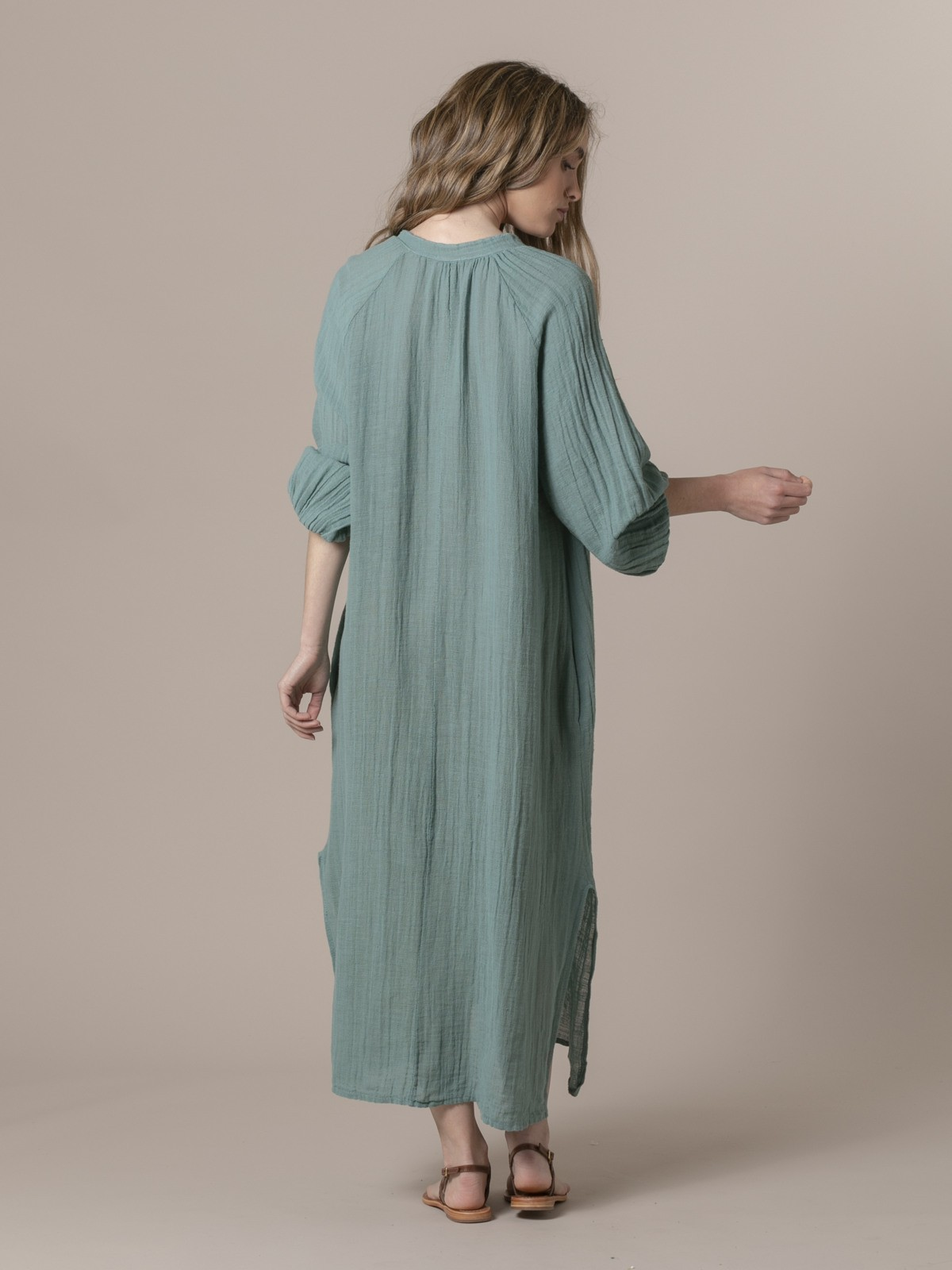 Woman Comfort oversize dress Green