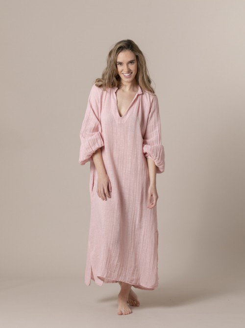 Vestido oversize confort Rosa