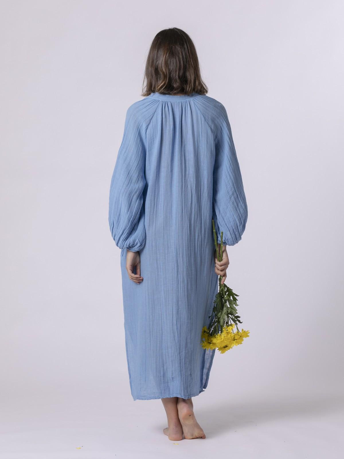 Vestido oversize confort Azul