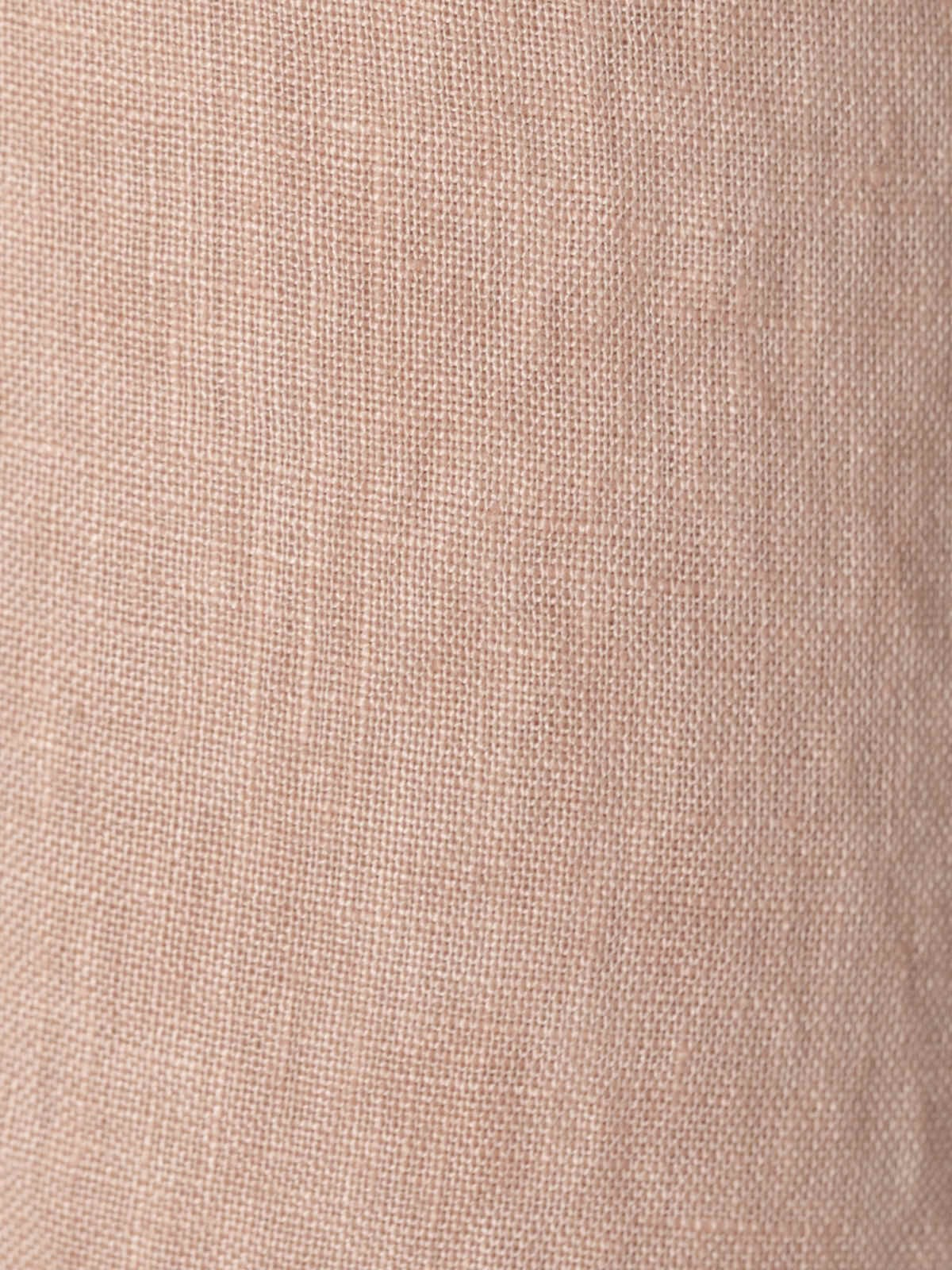 Vestido largo de lino con botones arena