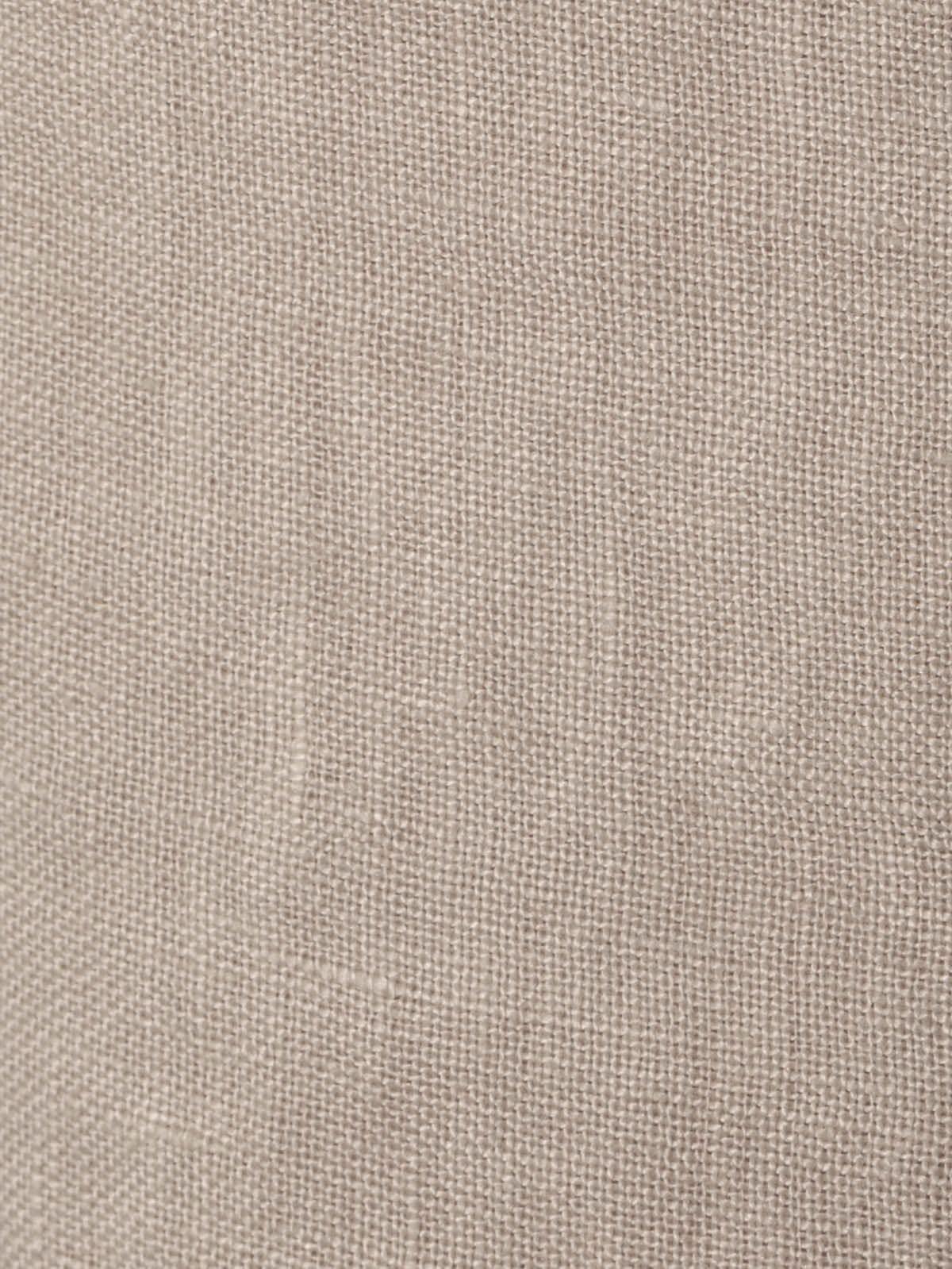 Short mujer de lino bordado Beige