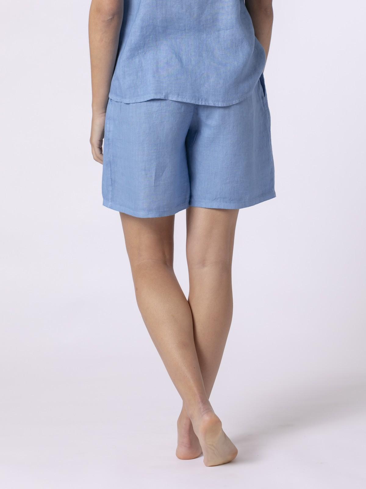 Woman Woman Classic linen bermuda Blue