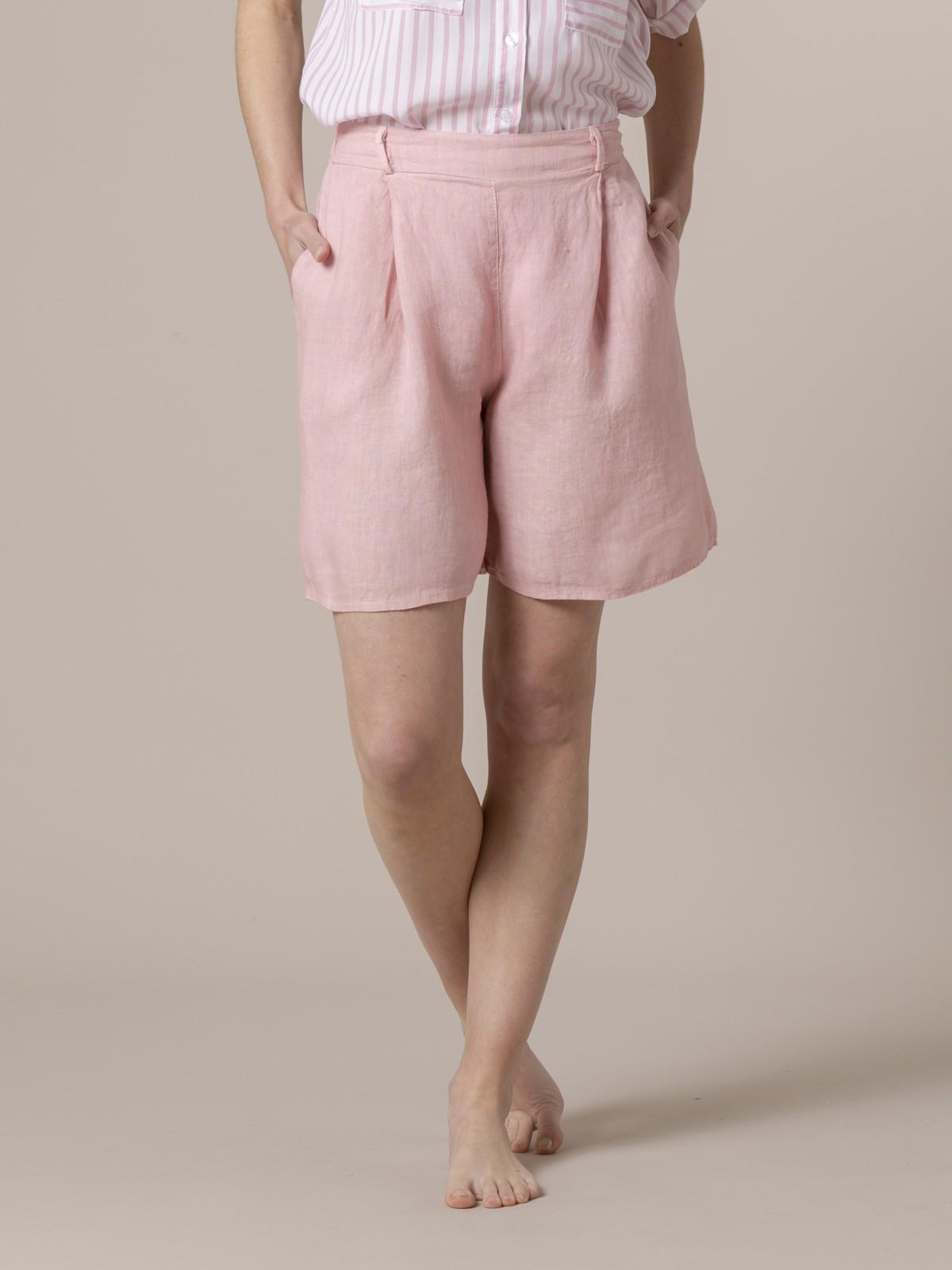 Woman Woman Classic linen bermuda Pink