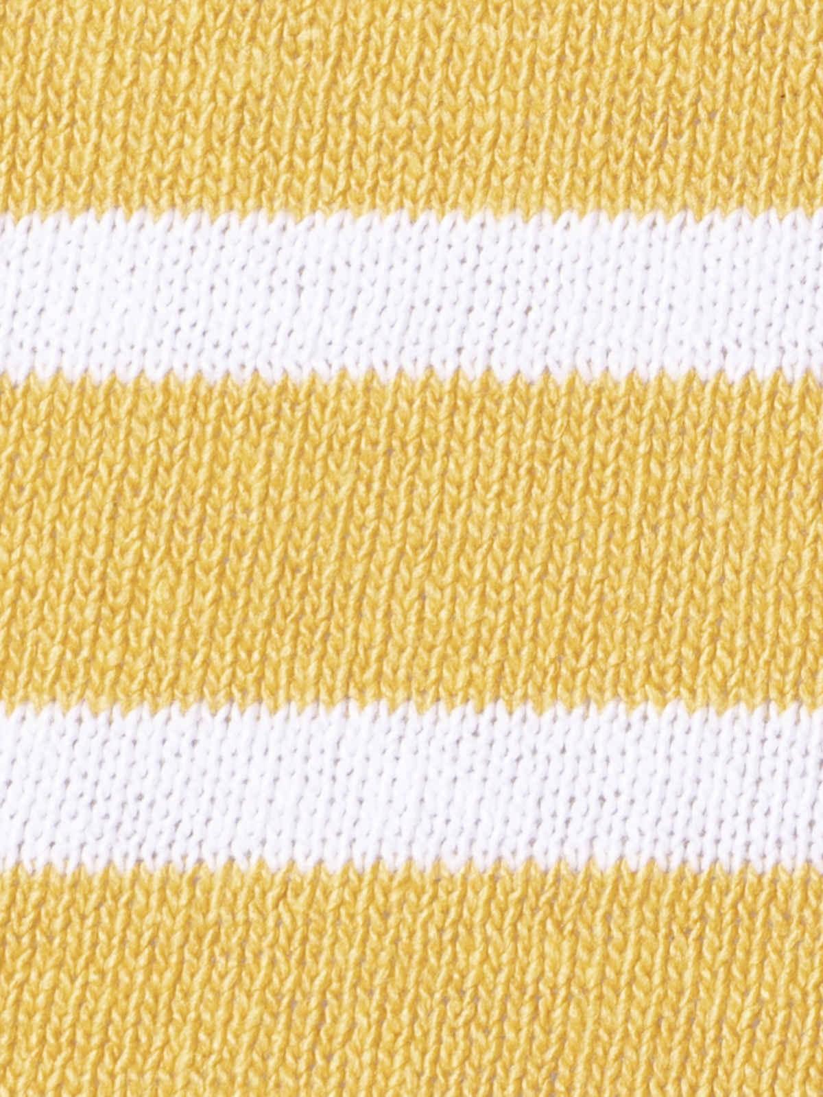 Jersey de punto mujer  fino de rayas Mostaza