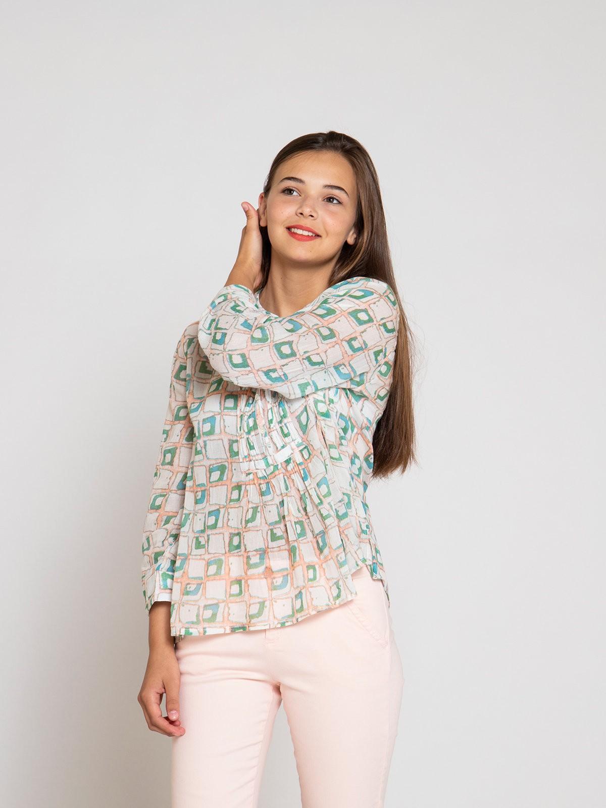 Blusa mujer plisada algodón Rosa