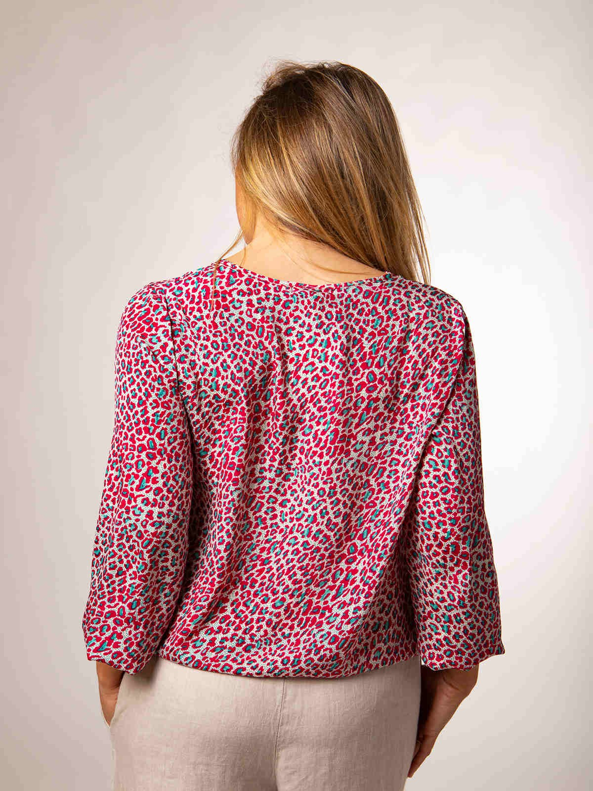 Woman Flowy printed blouse ROJOS