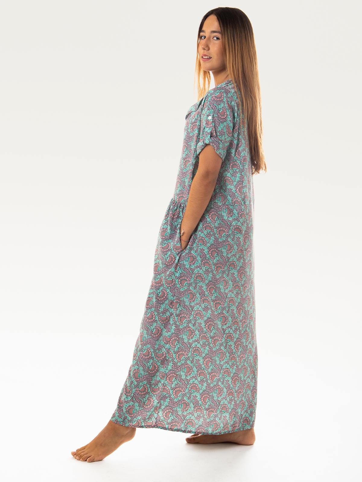 Woman Woman Flowy long dress AQUAS