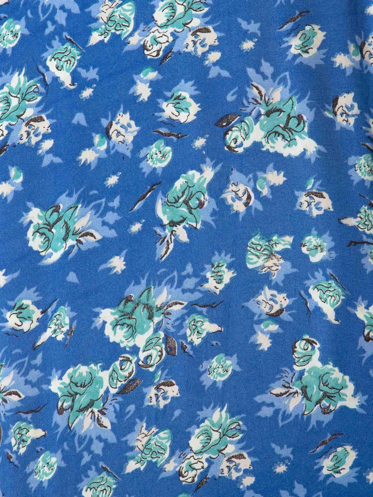Blusa fluida estampada mujer Azules