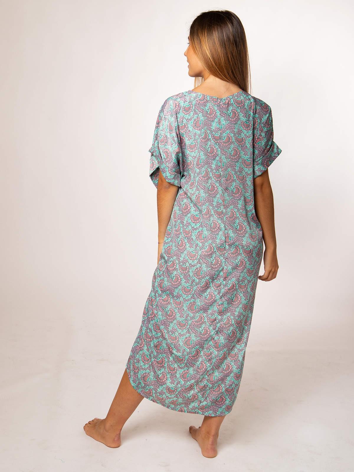 Woman Woman Printed midi dress AQUAS
