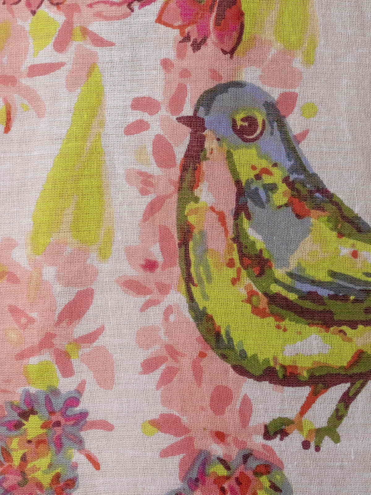 Woman Glitter bird print shirt White