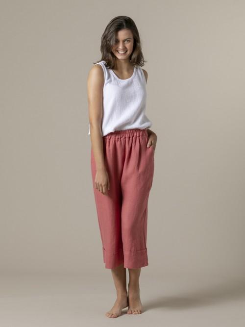 Woman Woman 100% linen pant Tile
