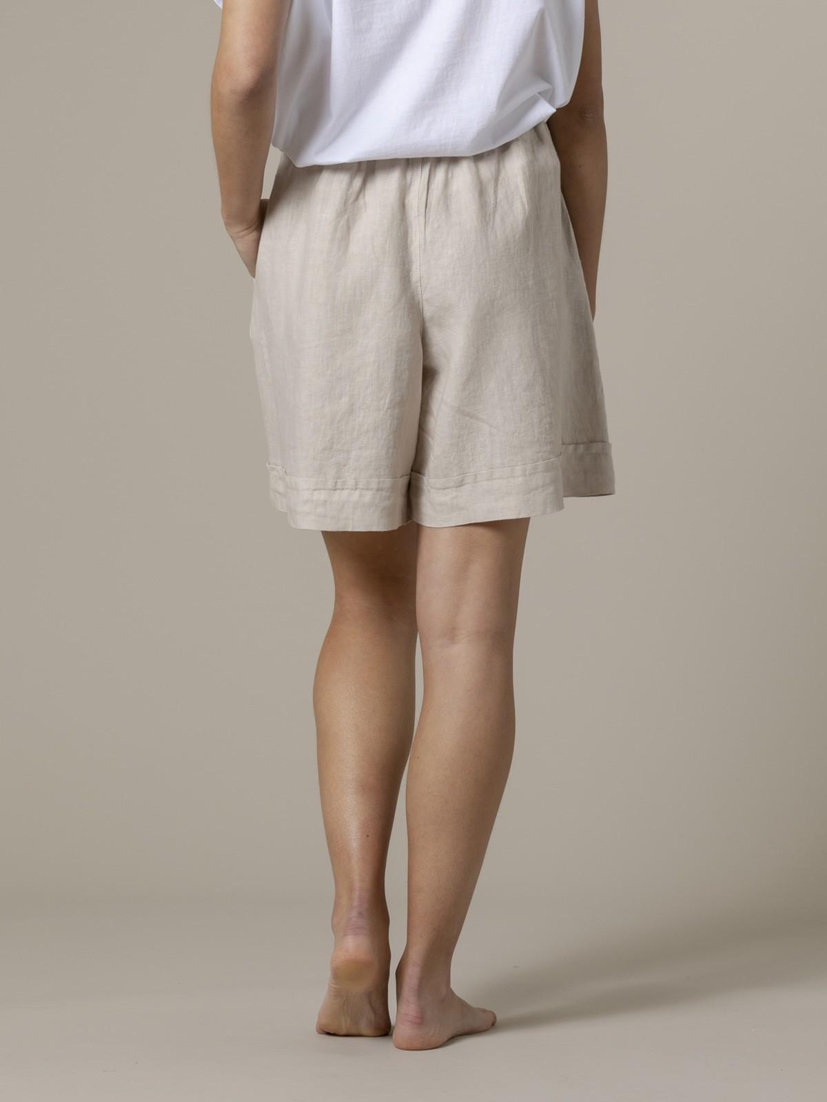 Woman Woman 100% linen bermuda Beige