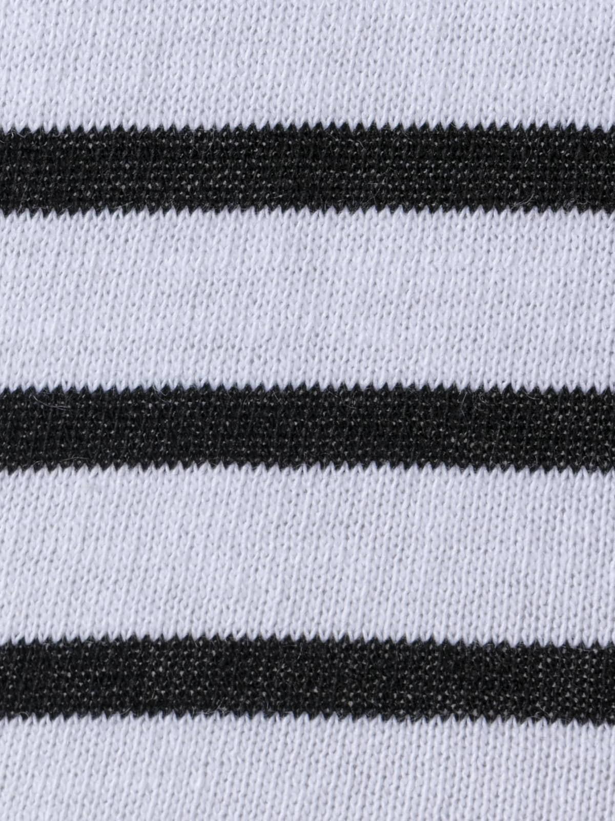 Jersey punto fino rayas en bajo Negro