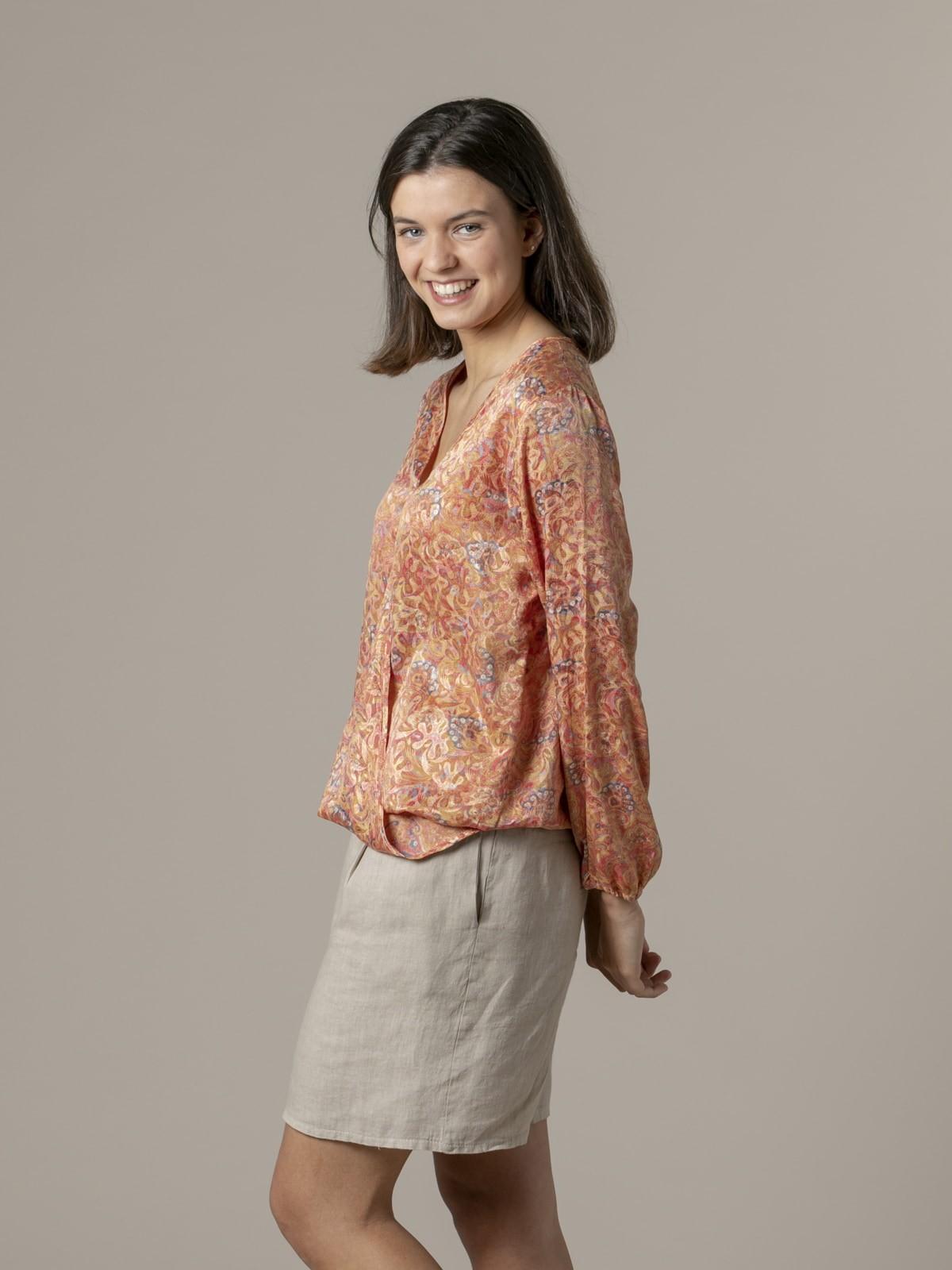 Woman Flowy printed blouse Pinks claros