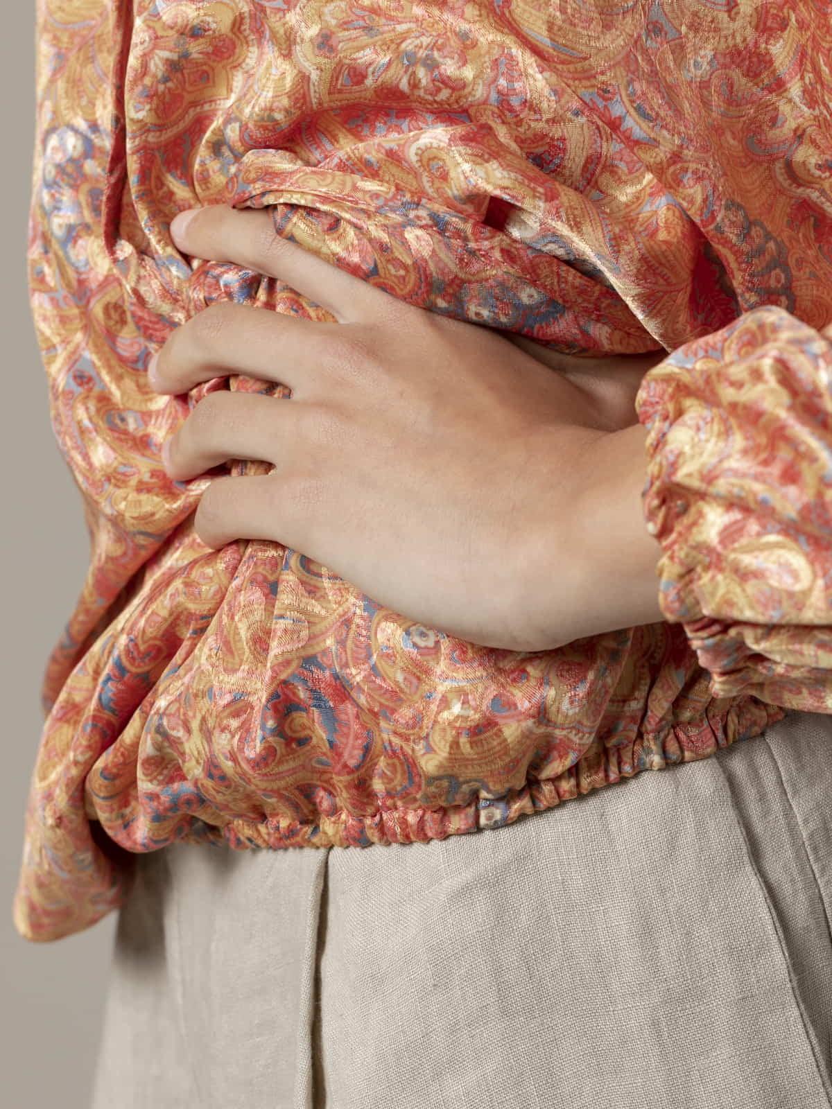 Blusa fluida estampada mujer Rosas claros