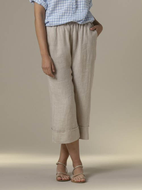 Woman Woman 100% linen pant Beige