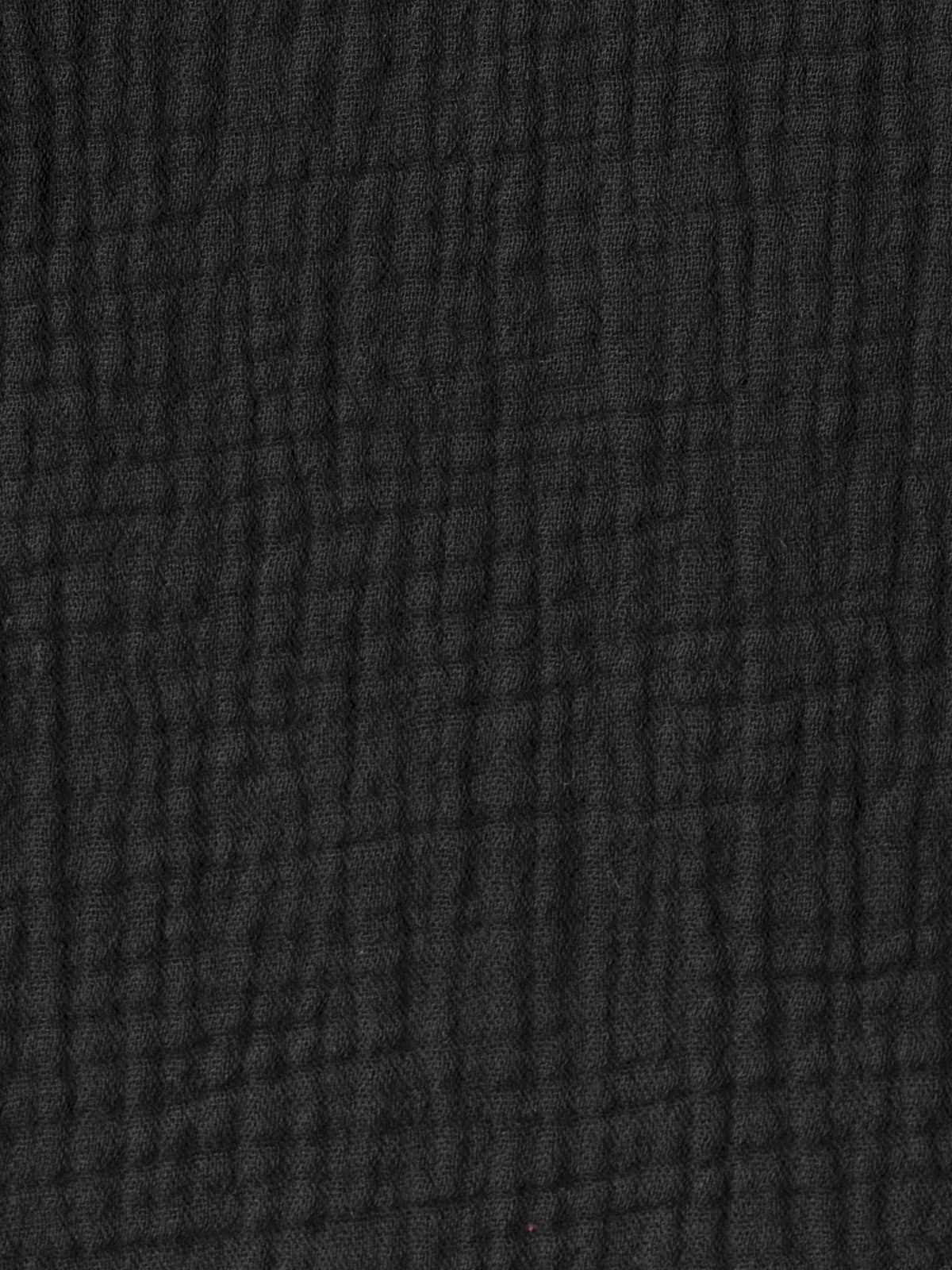 Top de algodón arrugado Negro