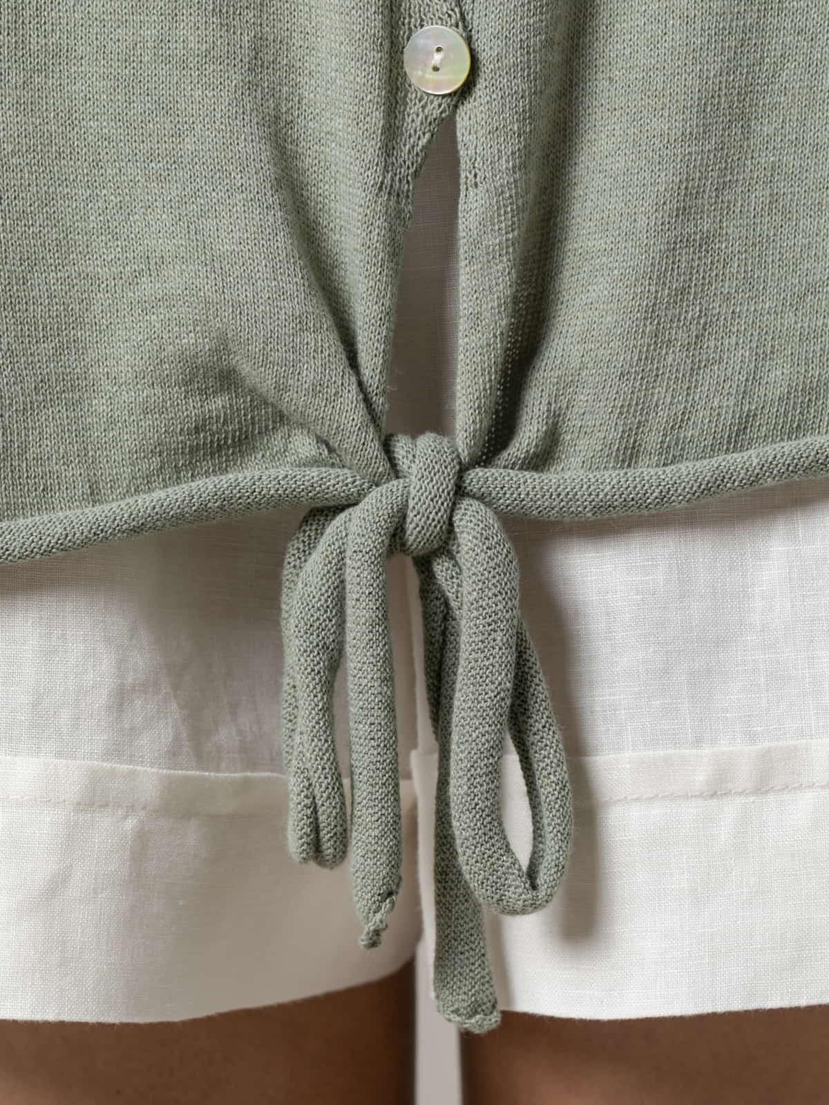 Woman Woman Cotton knit jacket Khaki