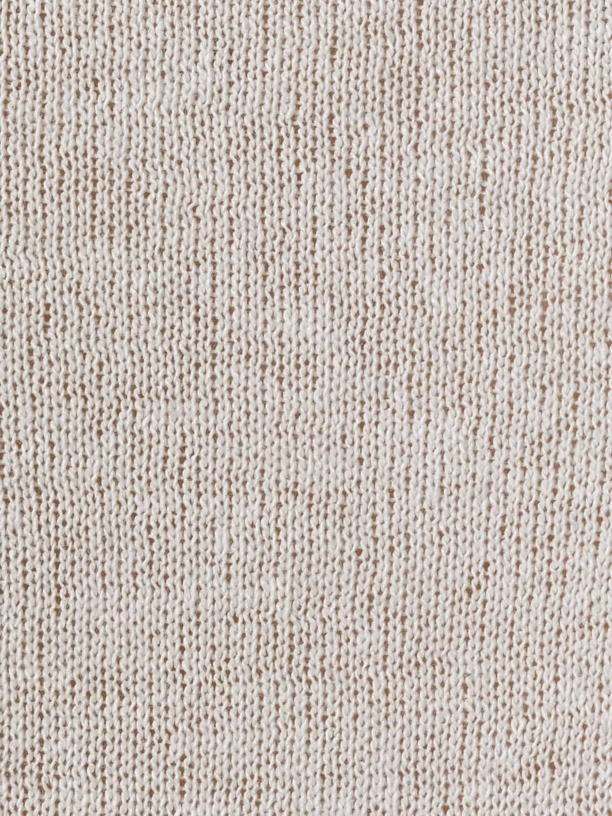 Chaqueta punto de mujer algodón Marfil
