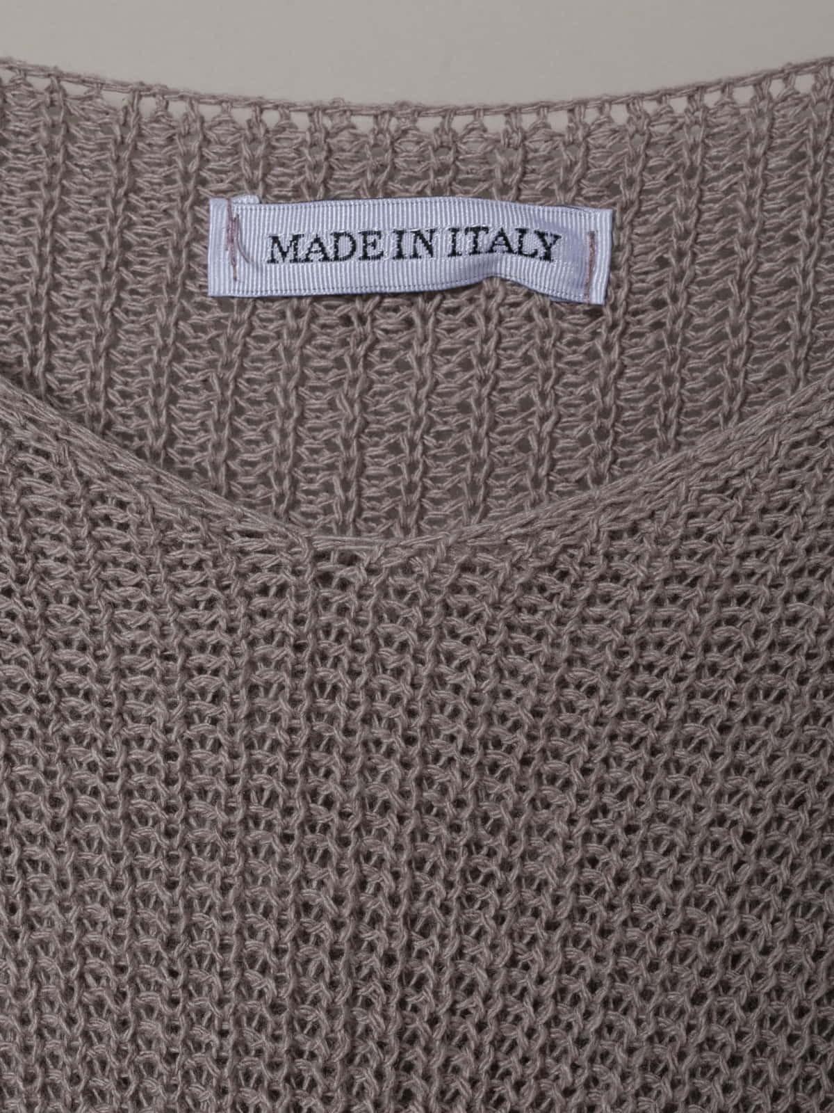 Woman Woman V-neck ribbon knit sweater Nude