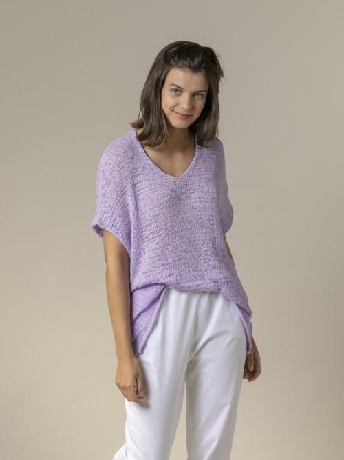 Woman Woman Plain ribbon knit vest Lila