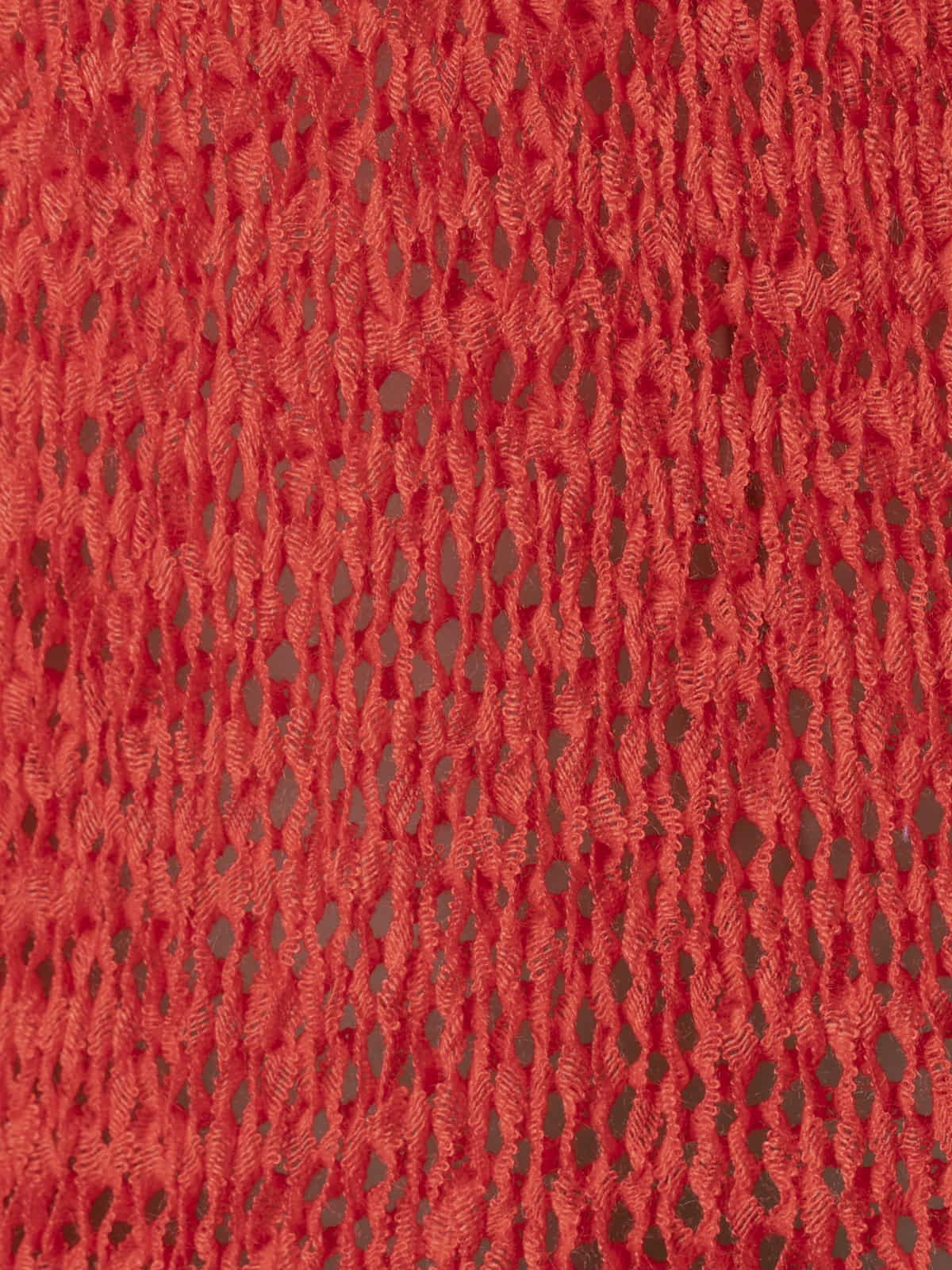Woman Woman Plain ribbon knit vest Coral