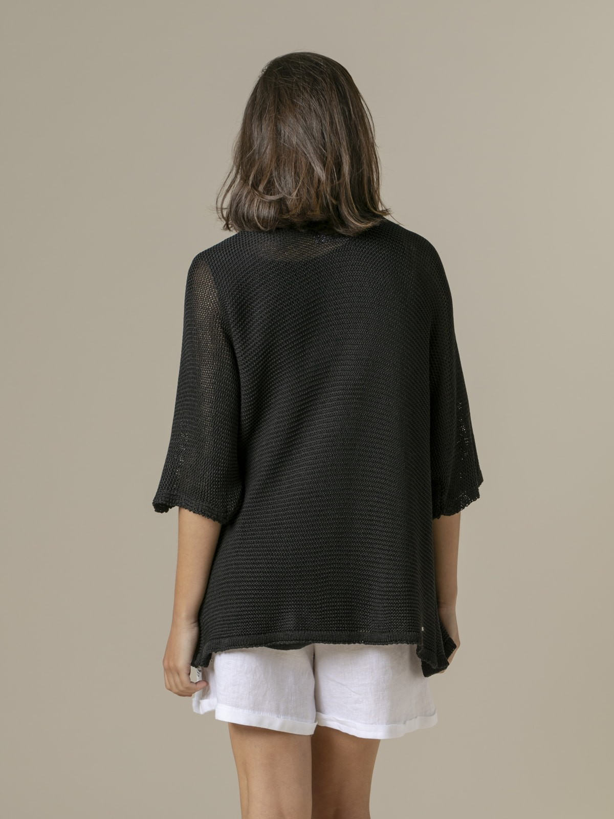 Woman Woman Cotton knit jacket Black