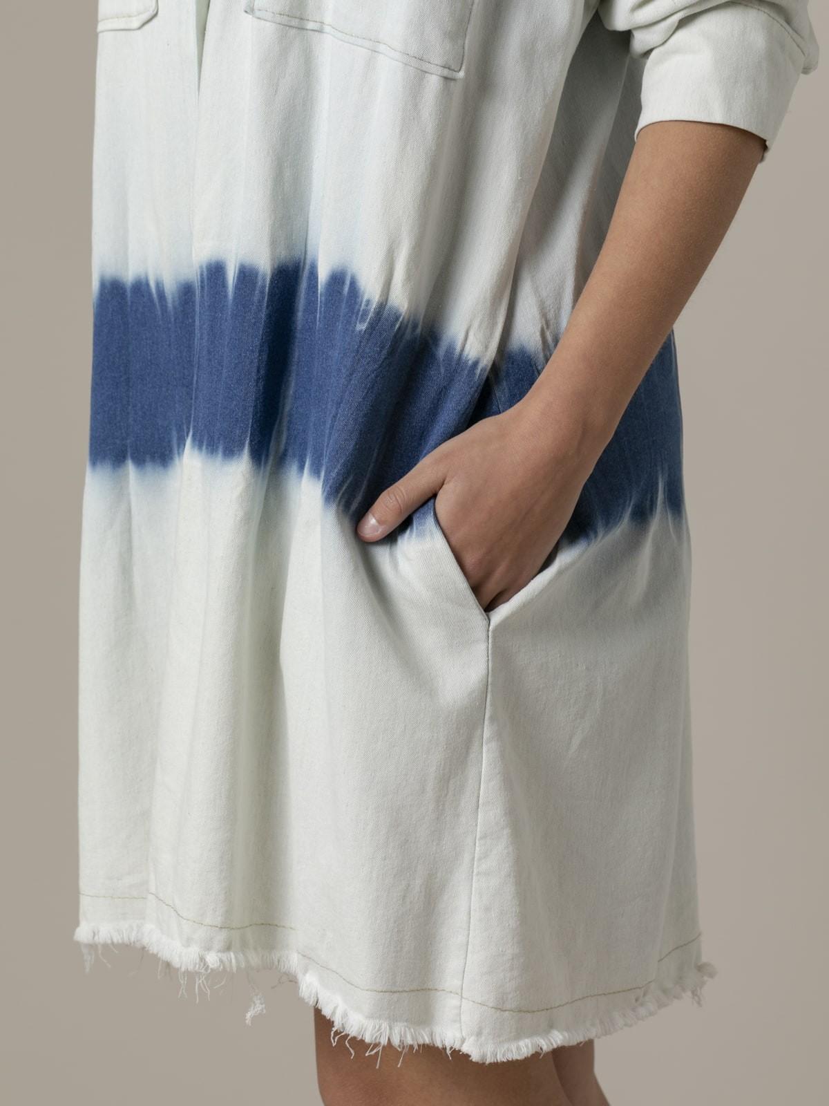 Chaqueta mujer corte vaquero tie dye Azul