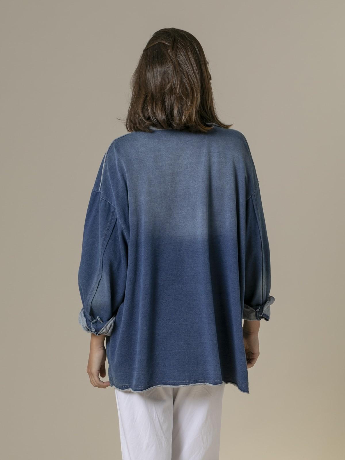 Woman Woman Denim cut canvas jacket azul oscuro