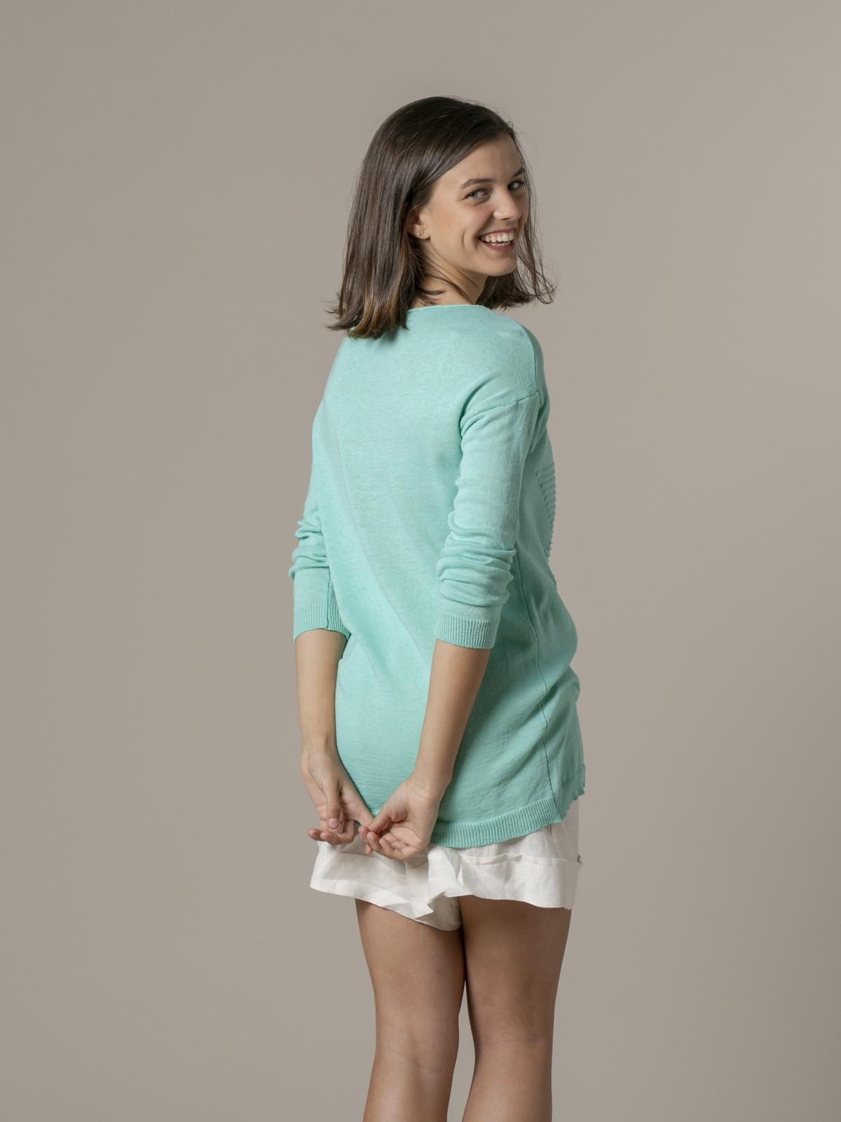 Woman Woman Star print knit sweater Aqua
