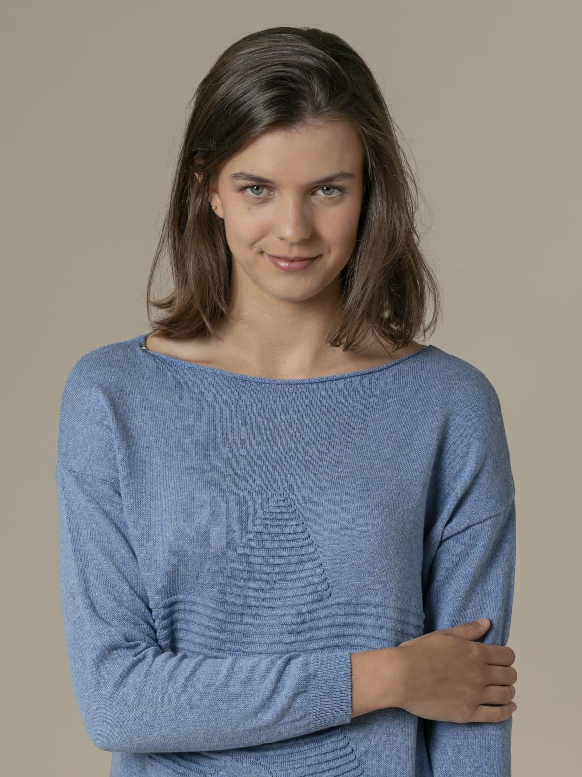 Woman Woman Star print knit sweater Blue Jean