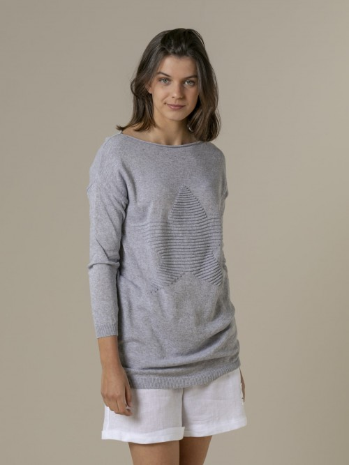 Woman Woman Star print knit sweater Grey
