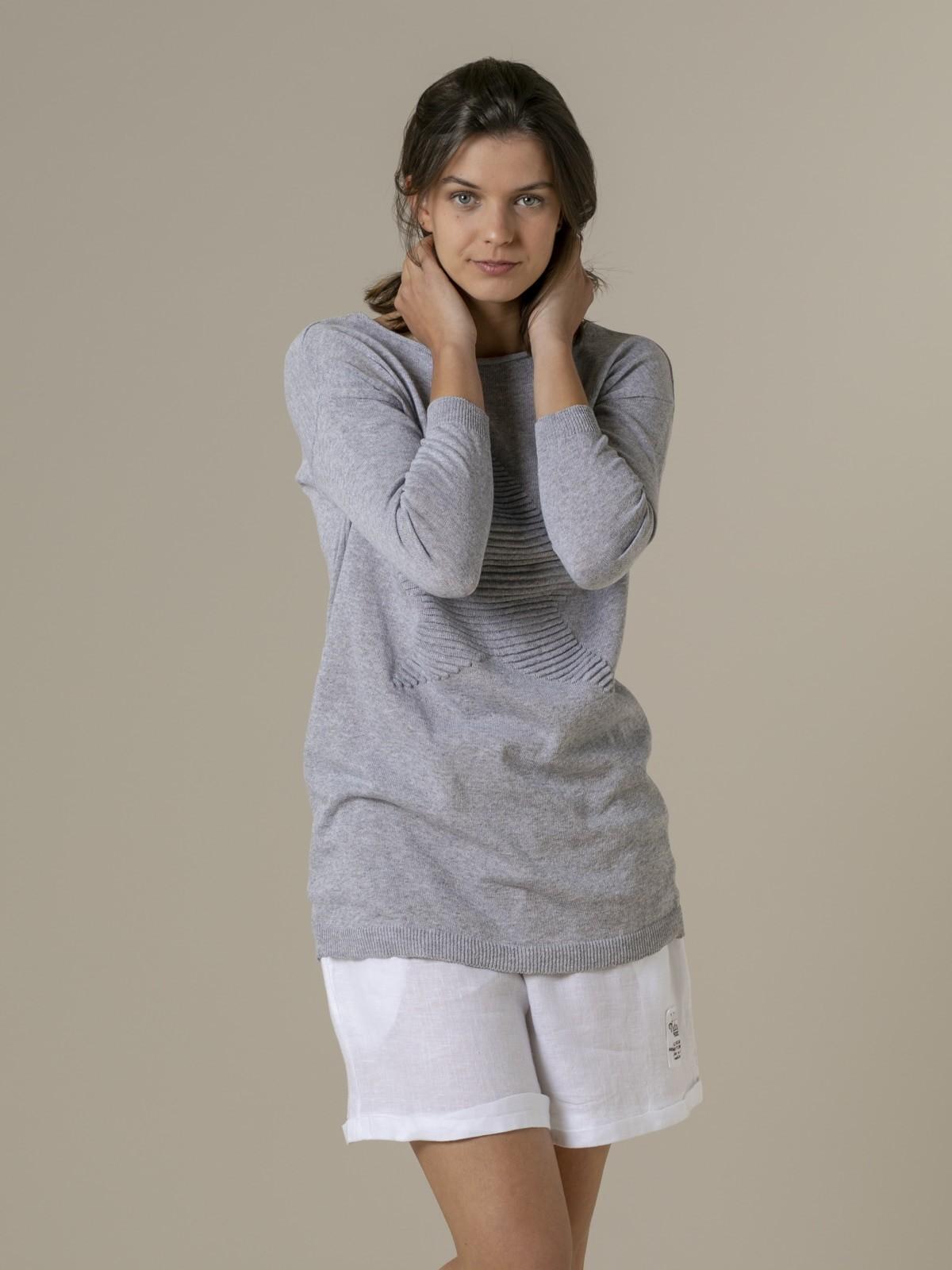 Woman Woman Star print knit sweater Grey
