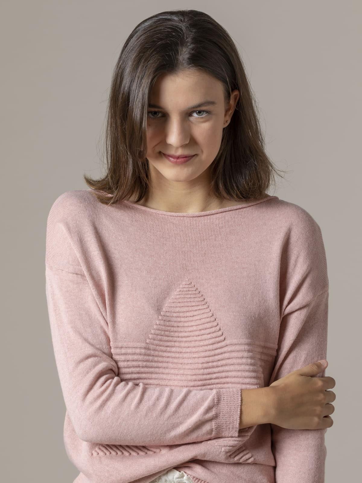 Woman Woman Star print knit sweater Pink