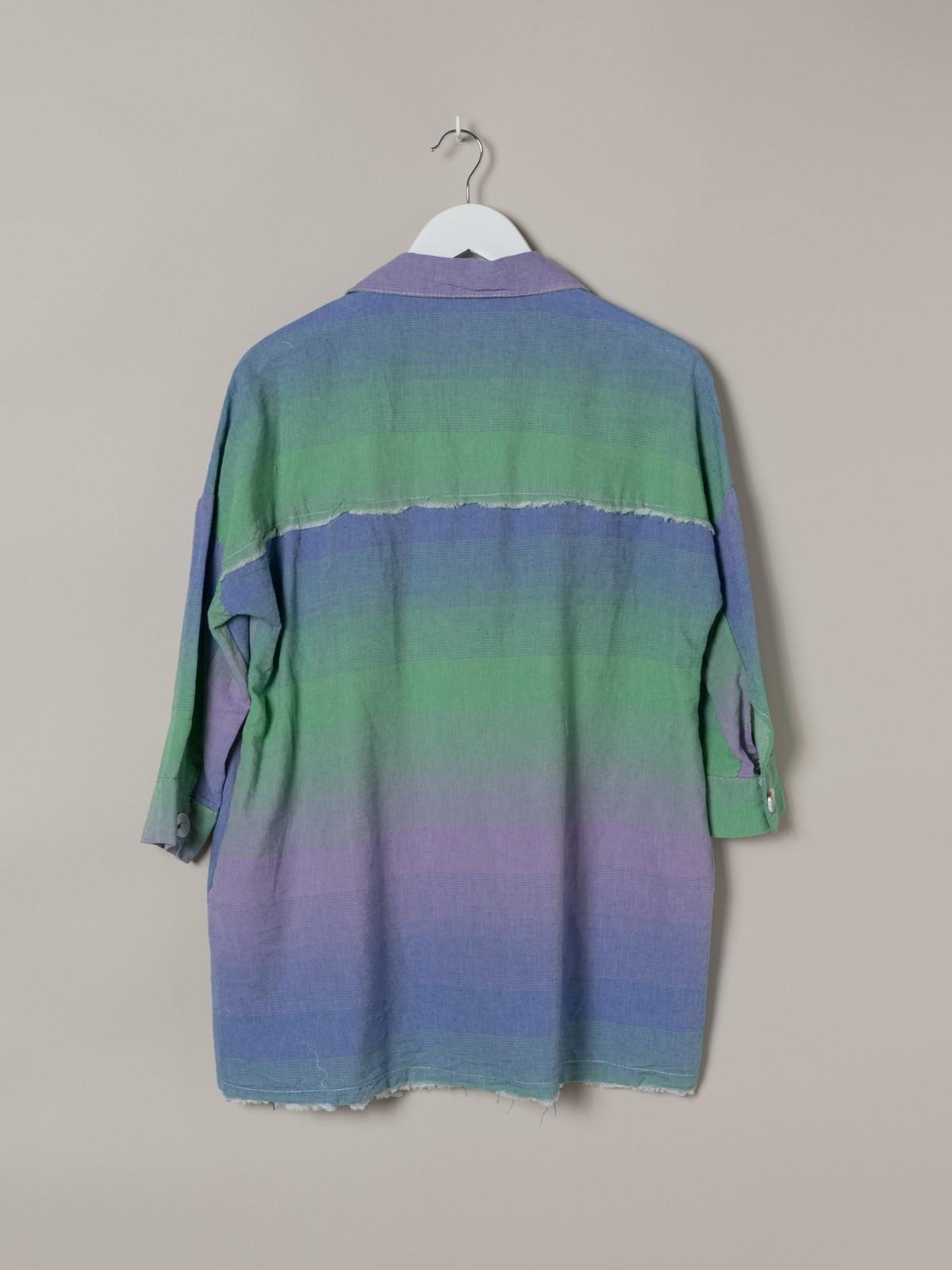 Camisa mujer cuadros colorida Verde