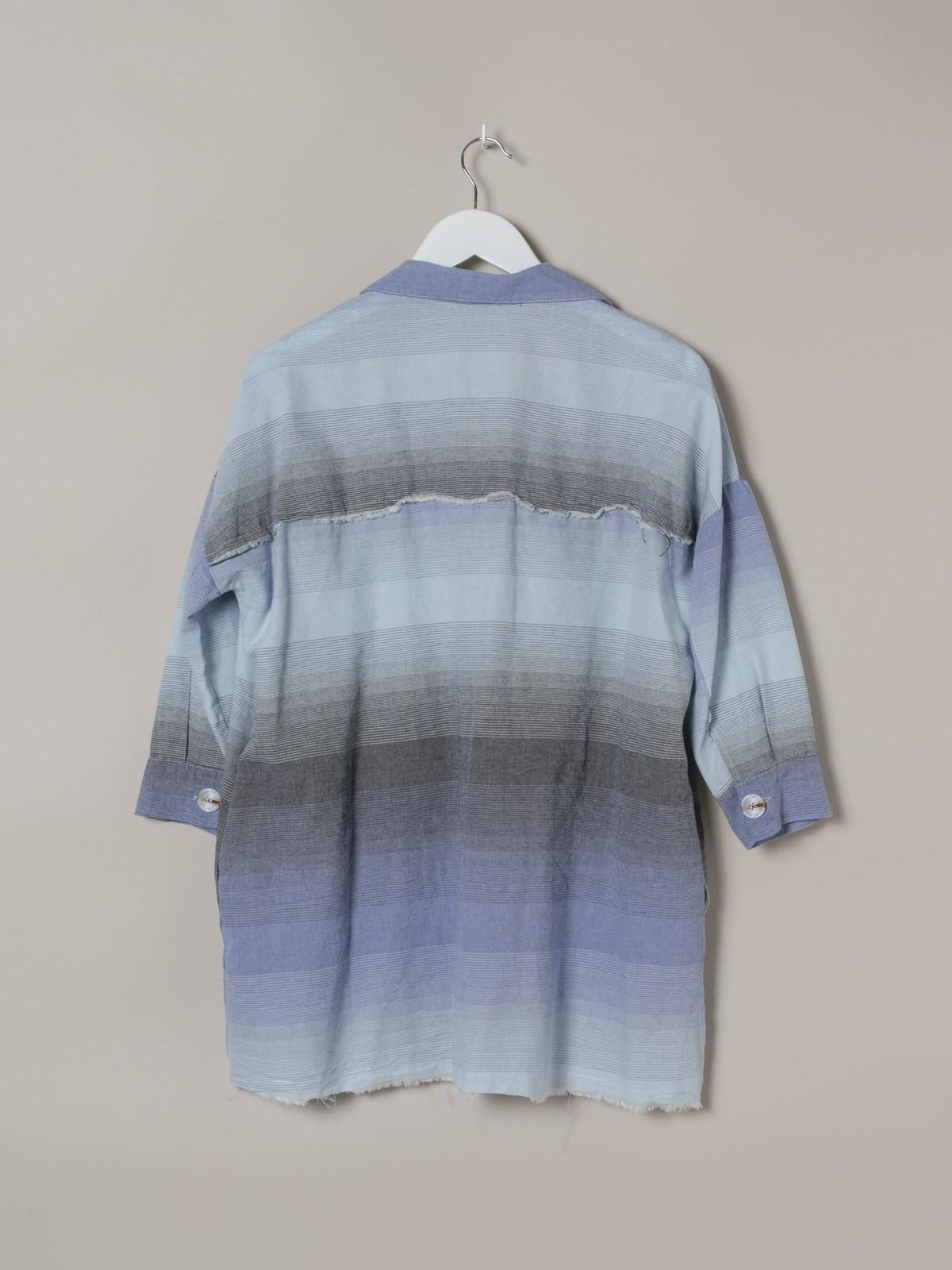 Camisa mujer cuadros colorida Azul
