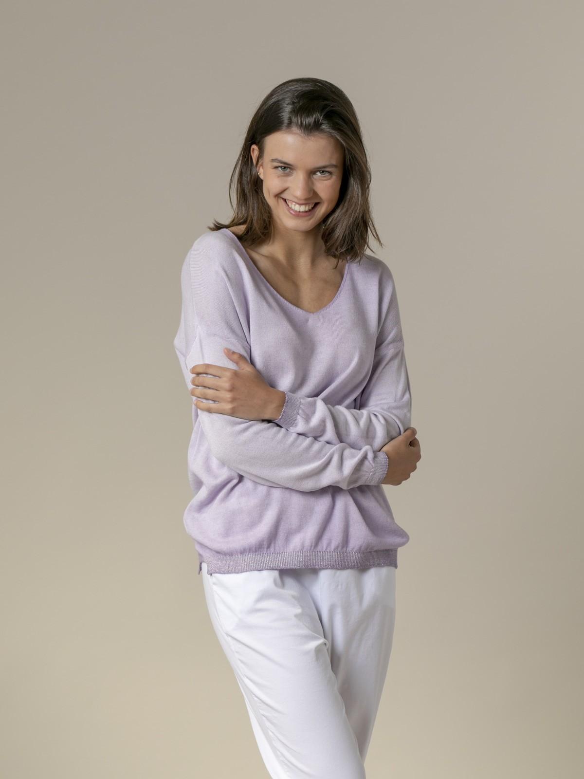 Woman Woman Glitter gradient dye sweater Lila