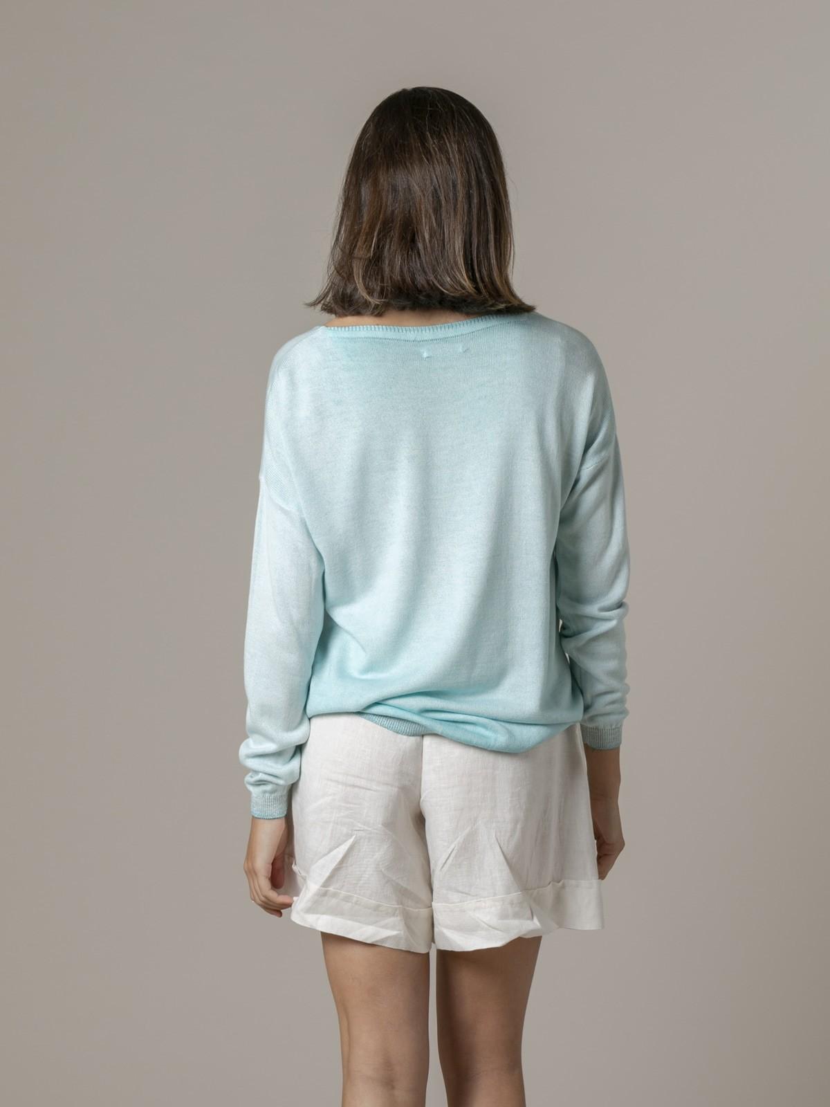 Jersey de mujer tinte degradé brillo Aqua