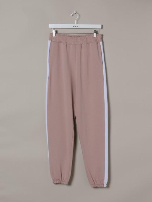 Pantalón sport mujer raya Rosa