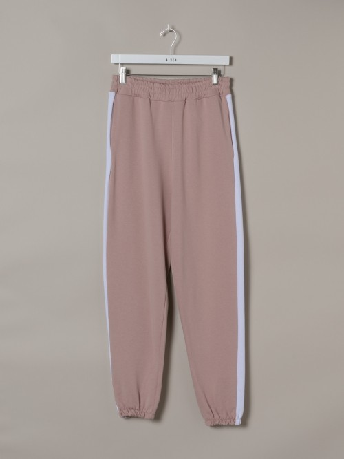Woman Woman Striped sport pants Pink