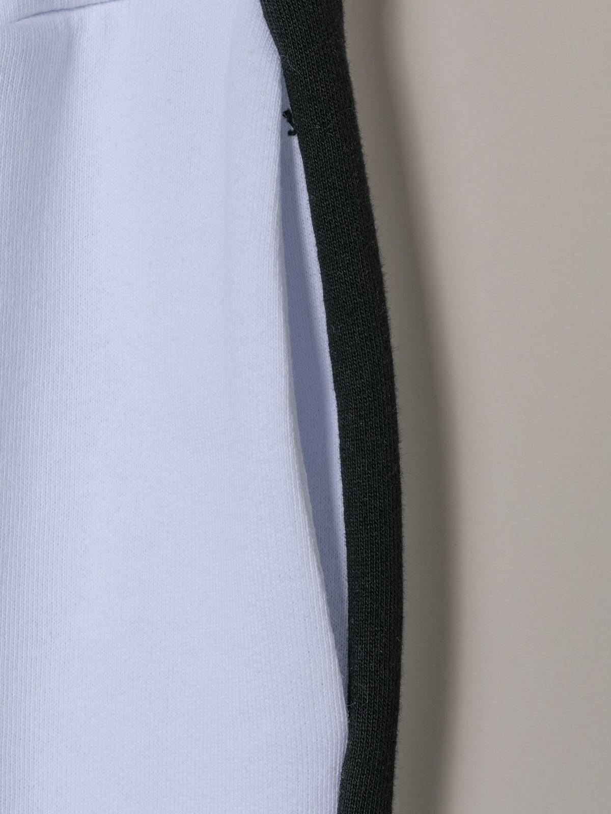 Pantalón sport mujer raya Blanco