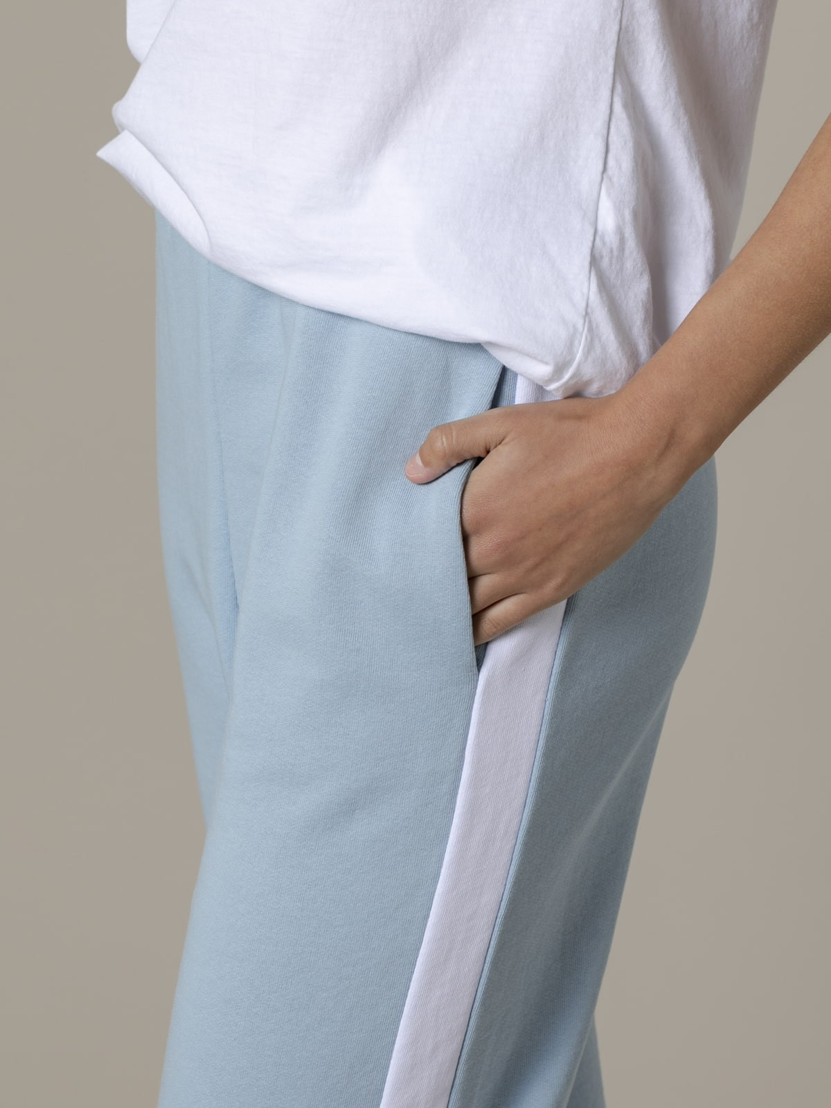 Pantalón sport mujer raya Azul