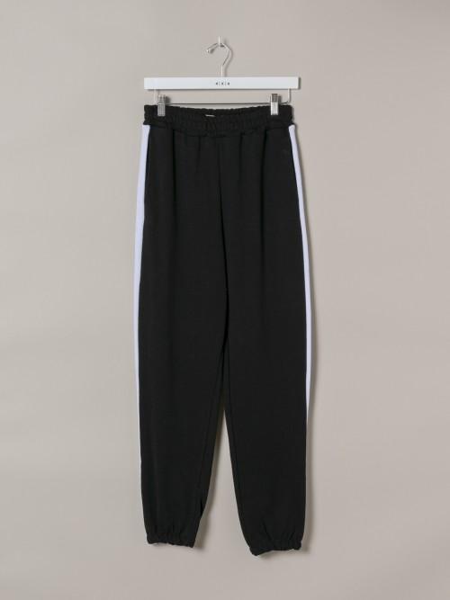 Pantalón sport mujer raya Negro