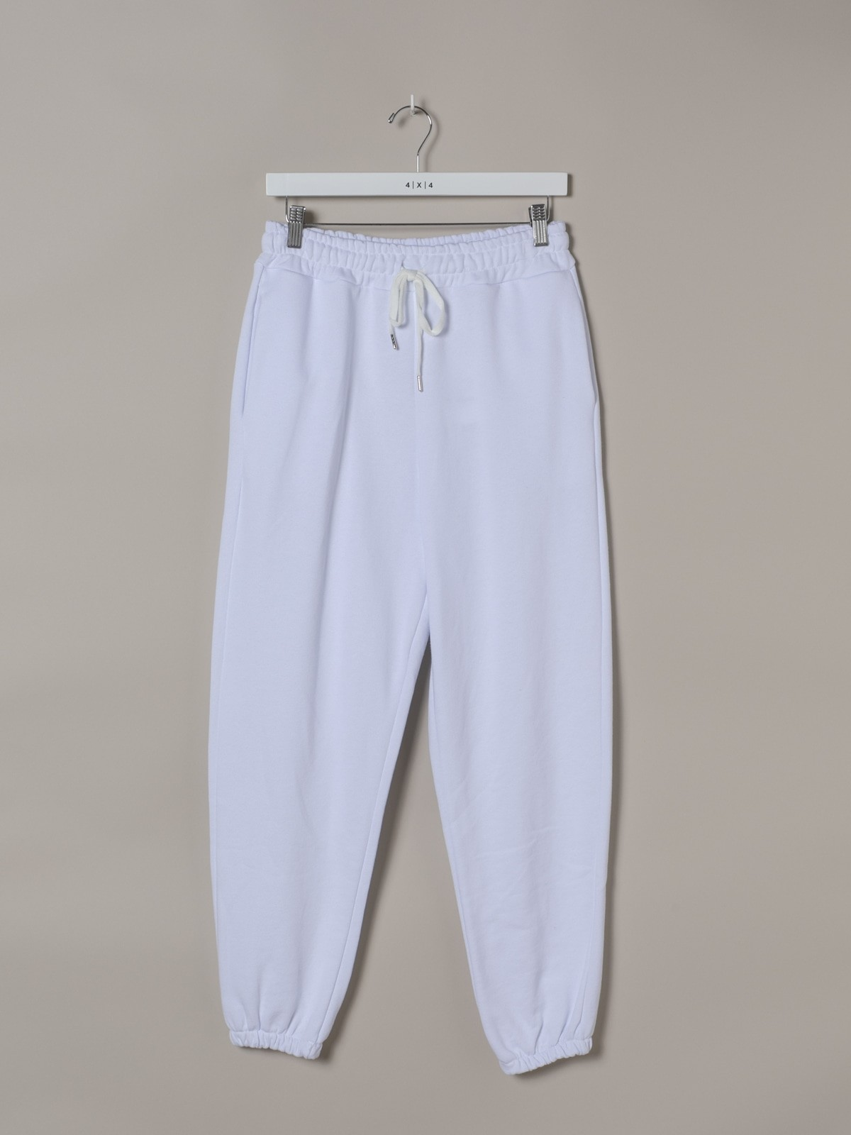 Woman Woman Plain sport pants with drawstring White