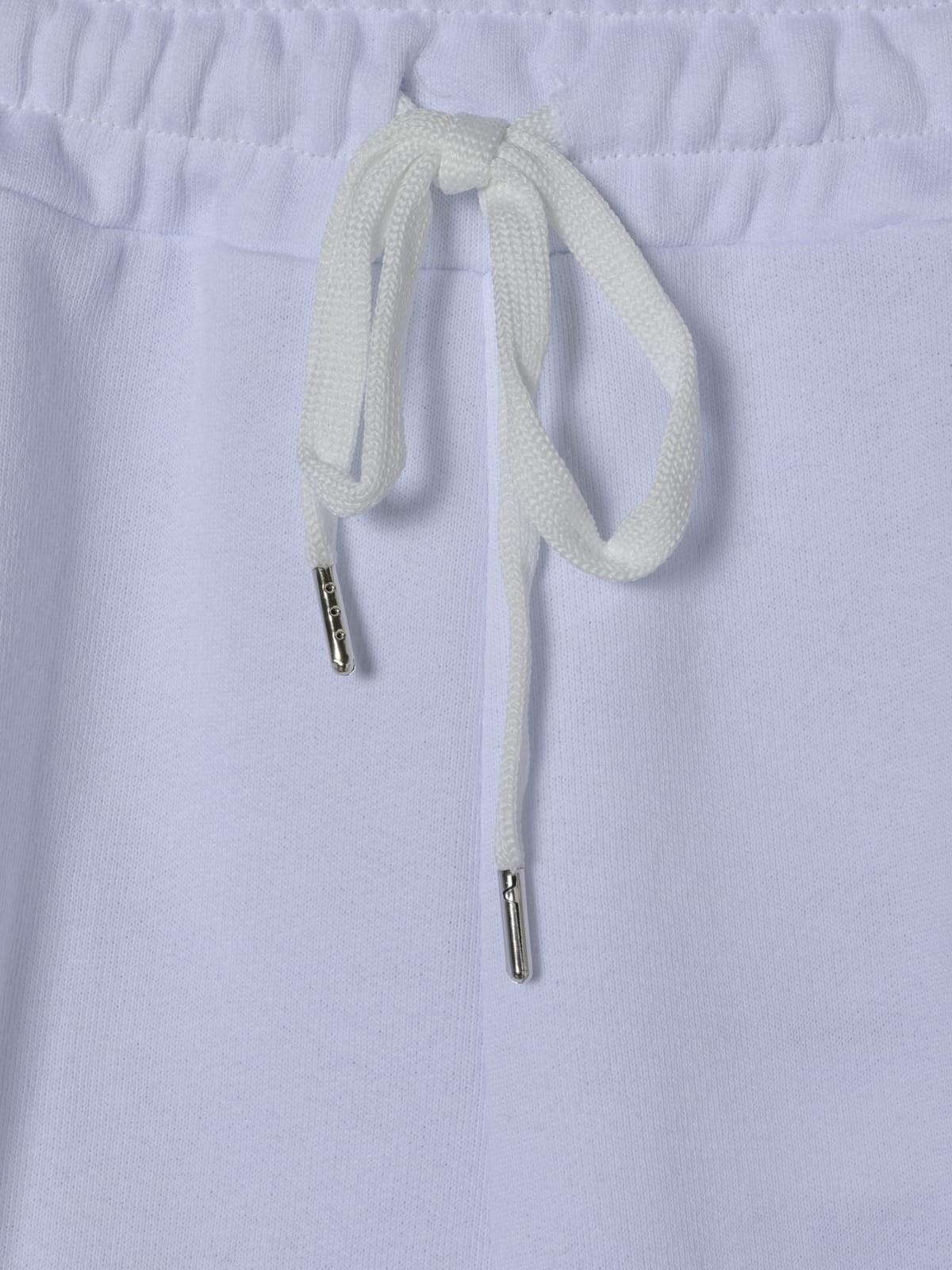 Pantalón mujer sport liso cordón Blanco