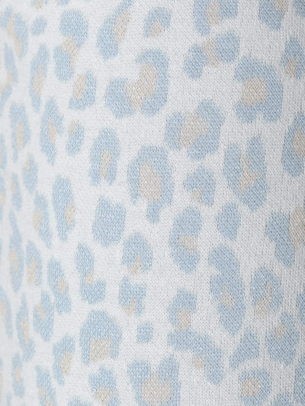 Pantalón mujer sport animal print Azul Claro