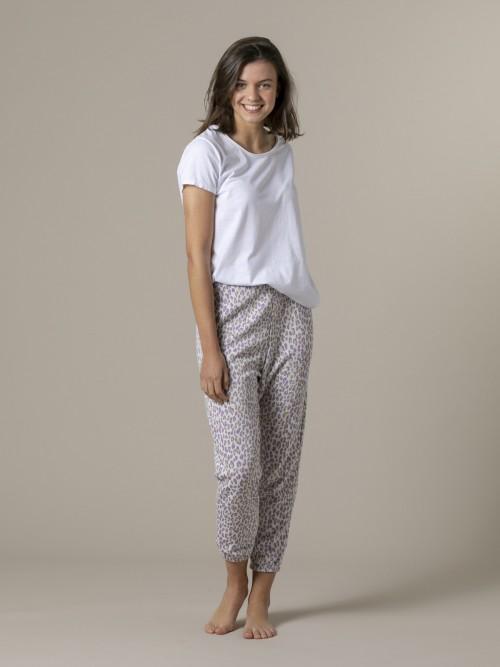 Woman Woman Animal print sport trousers Lila